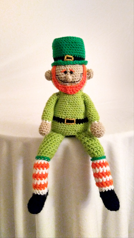 Free Crochet Pattern Holiday St Patricks Day Leprechaun Doll