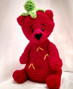 Free Crochet Pattern Amigurumi Bear Strawberry