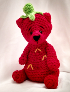 Free Crochet Pattern Amigurumi Bear Strawberry