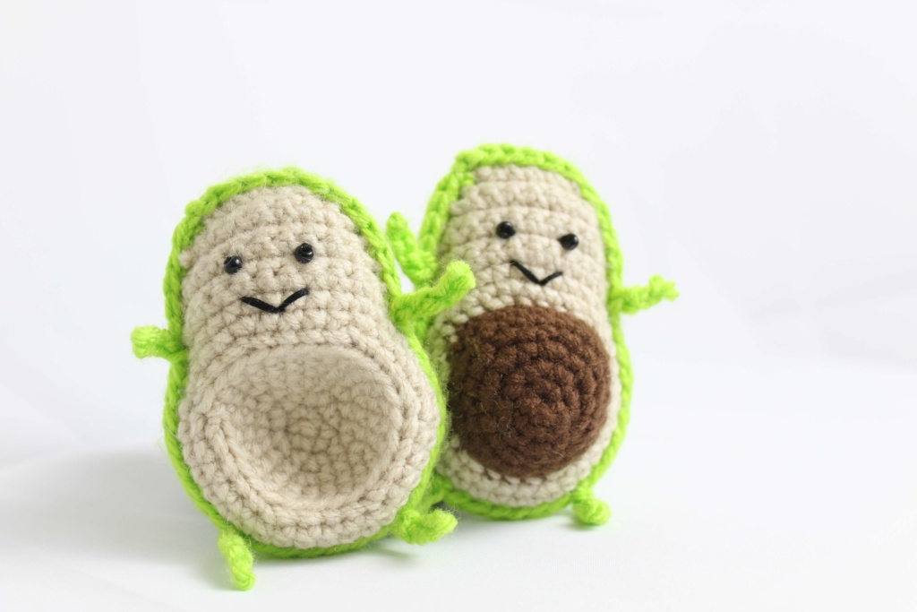 Avocado Food Friends Free Amigurumi Crochet Patterns