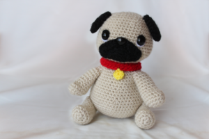 Free Crochet Pattern Pug Amigurumi Dog Cute Toy