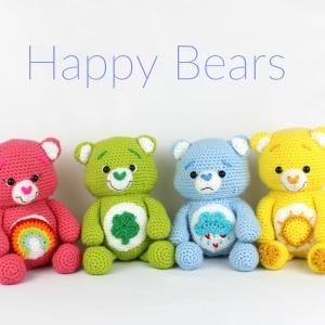 Happy Bears Free Amigurumi Crochet Pattern