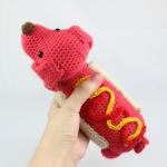 Free Amigurumi Crochet Patterns Hot Dog Summer Food