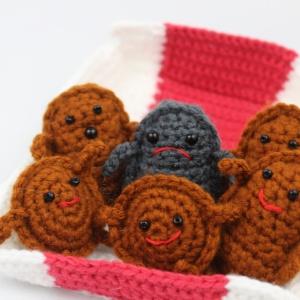Free amigurumi crochet patterns chicken nugget food friends