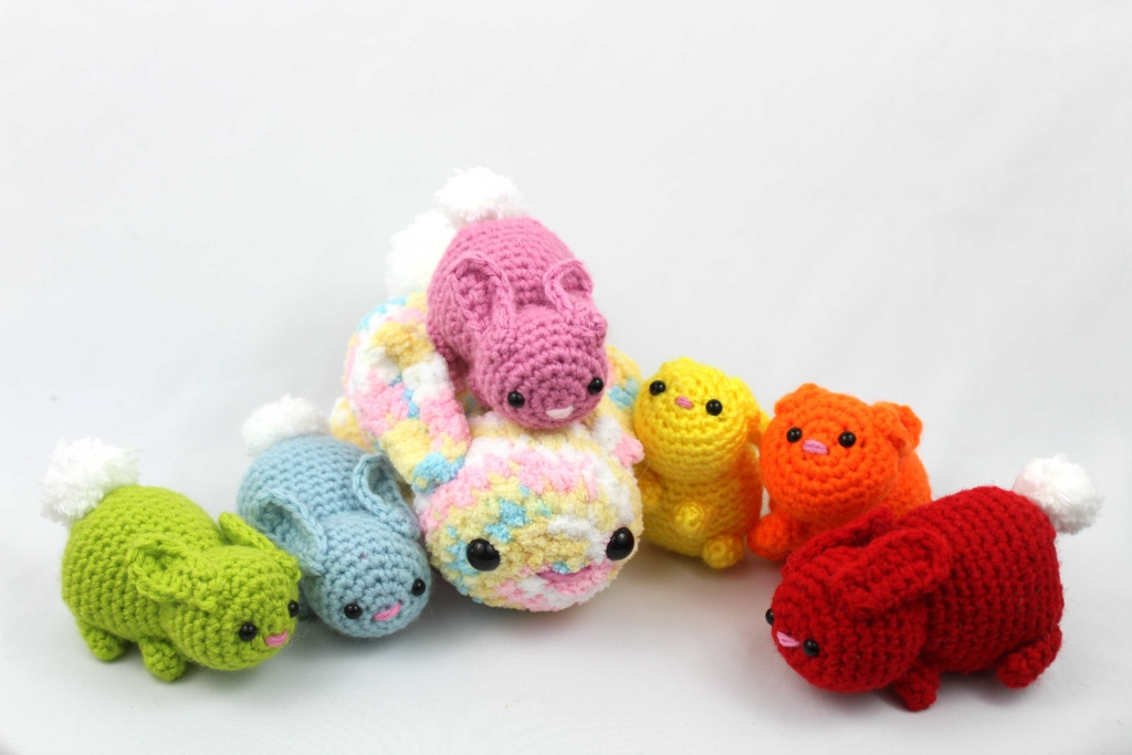 Free Bunny Crochet Pattern for Scraps Scrap Yarn Bunnies Amigurumi