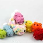 Free Bunny Crochet Pattern for Scraps Scrap Yarn Bunnies Amigurumi