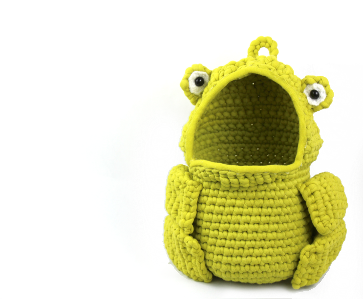 free amigurumi crochet patterns frog hanging basket funny decoration
