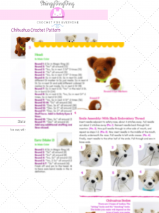 Chihuahua Amigurumi - Dog Crochet Pattern - FREE - Ami Amour | 300x225