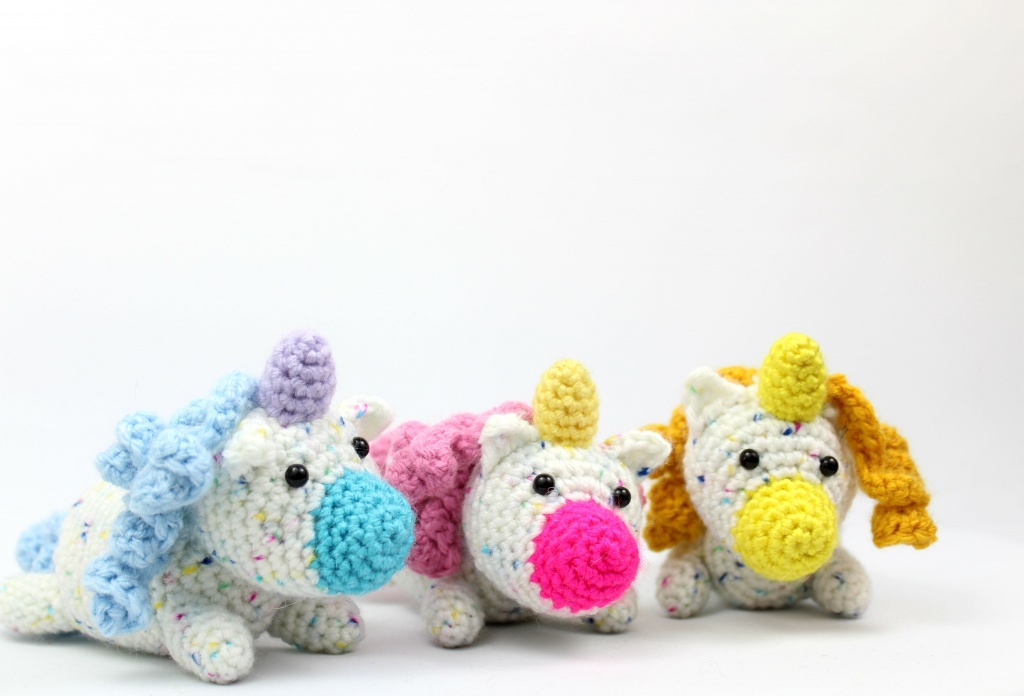 Free Crochet Unicorn Pattern - Red Ted Art - Make crafting with ... | 696x1024