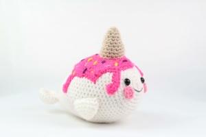 Amigurumi narwhal free crochet pattern | Amigurumi Space | 200x300
