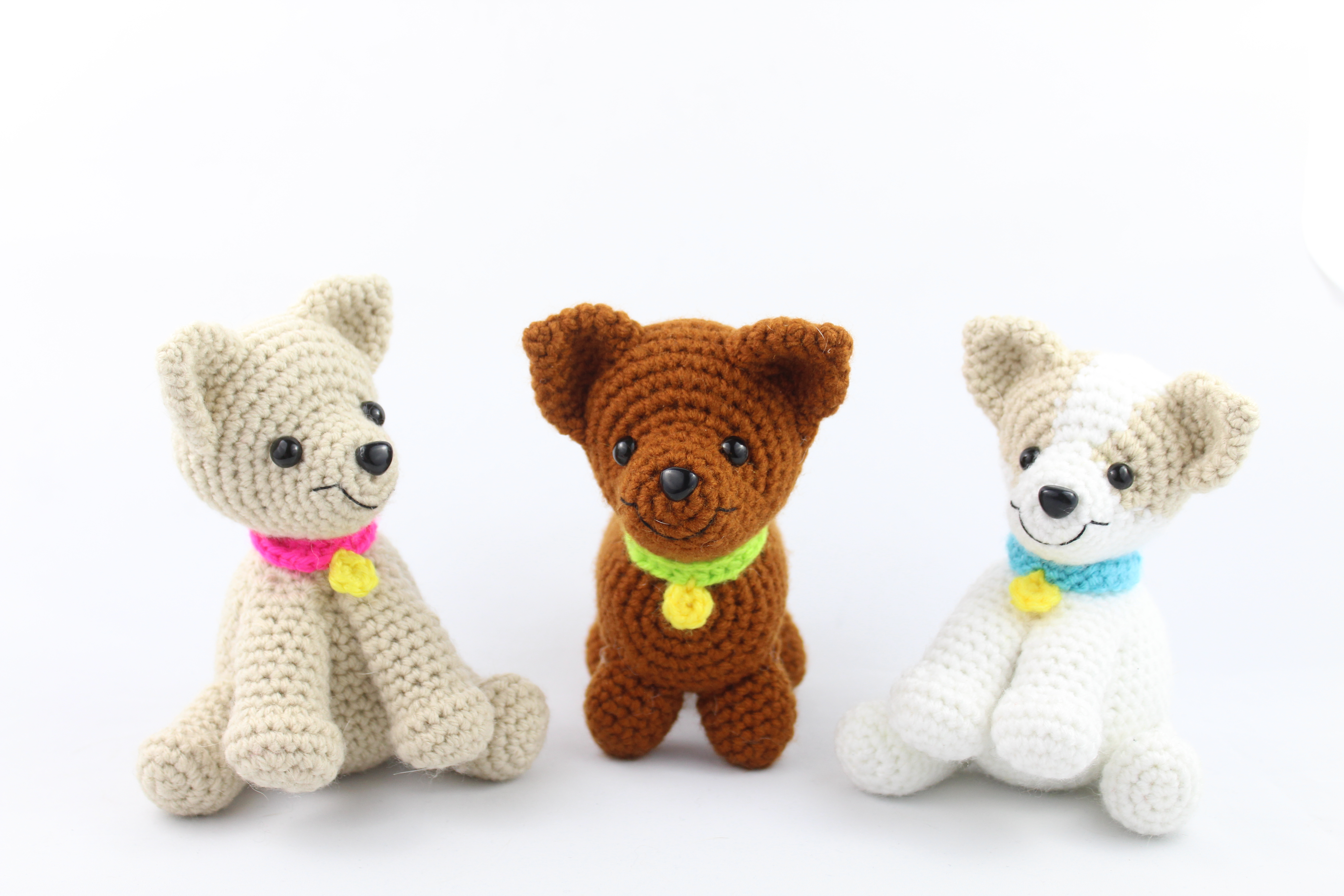 Amigurumi Little Dog Crochet Free Patterns - Crochet & Knitting | 3456x5184