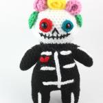 free amigurumi pattern sugar skull fall halloween day of the dead