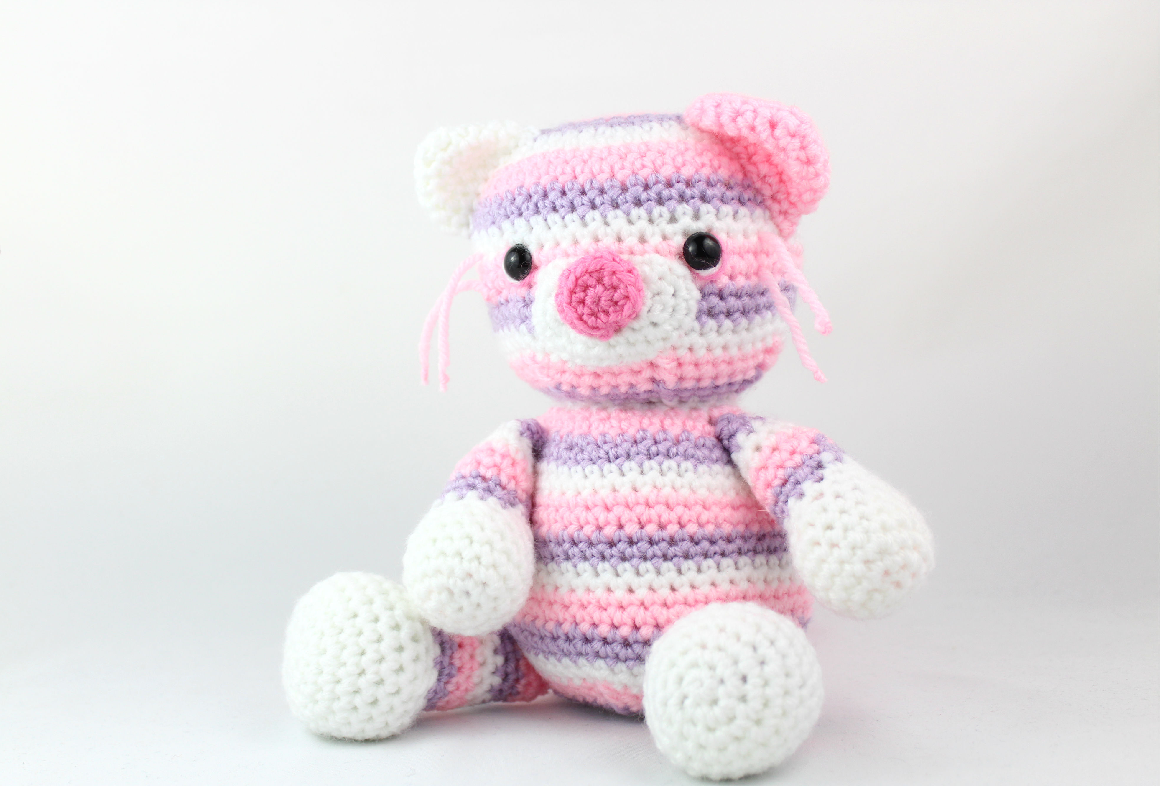 Large plush cat amigurumi pattern | Amiguroom Toys | 2665x3935