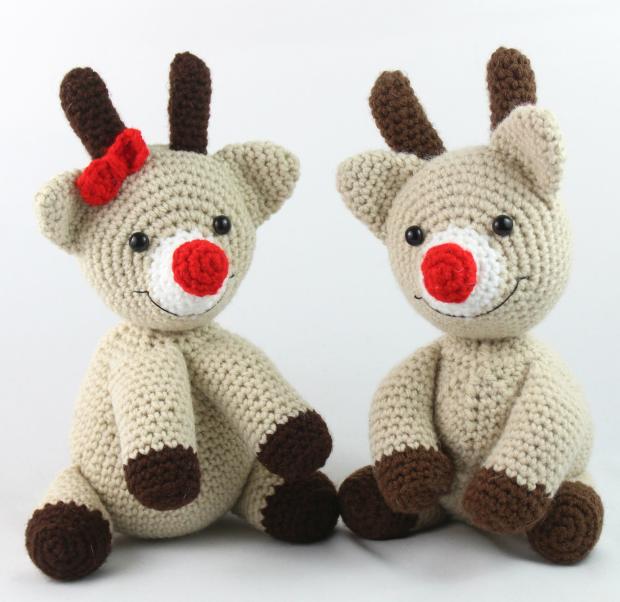 free reindeer amigurumi crochet pattern