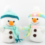 snowman free amigurumi pattern crochet christmas winter