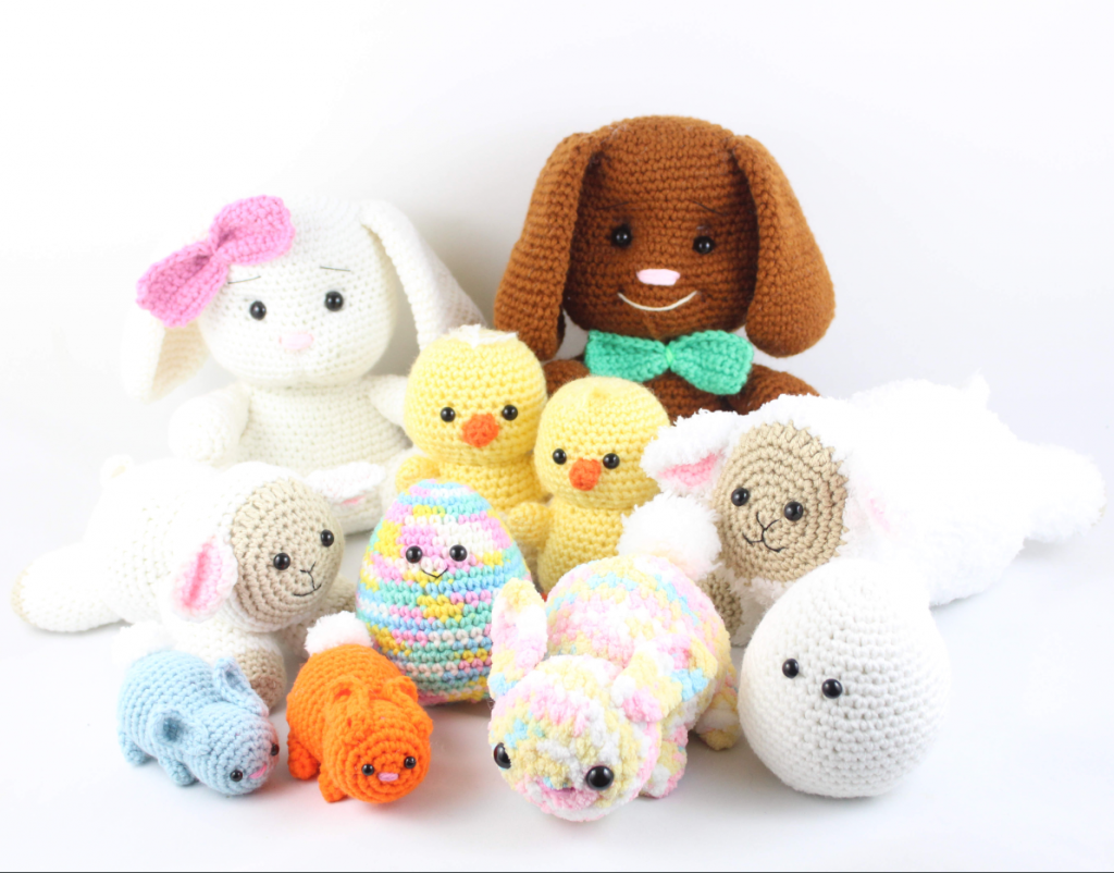 free amigurumi patterns easter set
