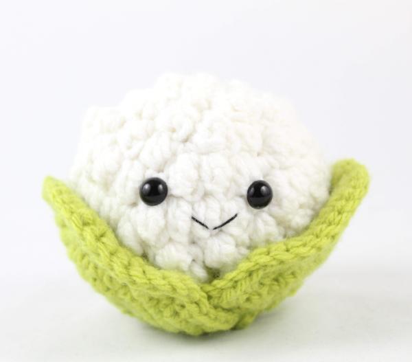 free amigurumi patterns cauliflower food crochet