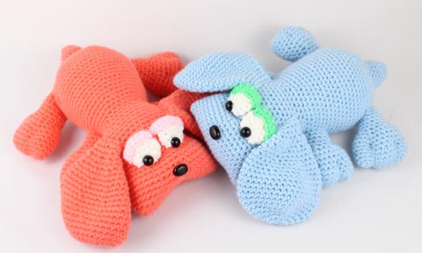 free amigurumi pattern dog puppies crochet
