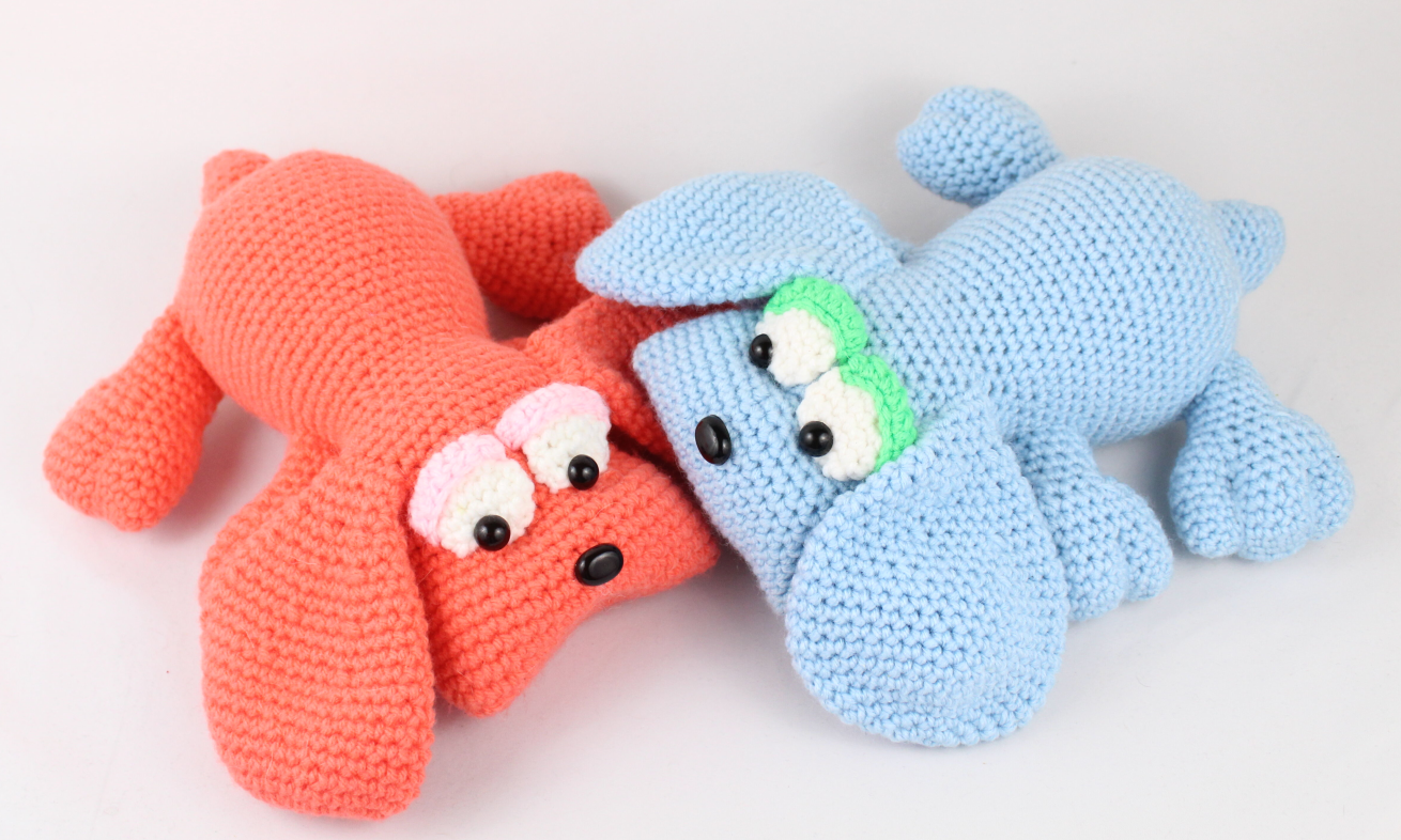 Baby Knitting Patterns A free Amigurumi Dog pattern that shows you how to  use Brush... | 786x1310