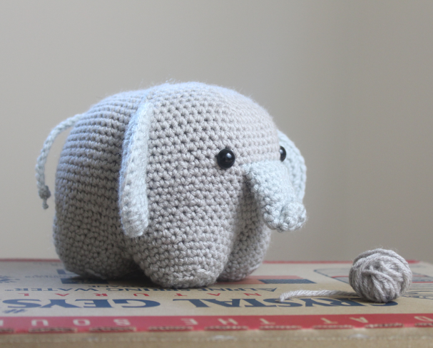 Roy Elephant Crochet Kit by Wool Couture | 488x607