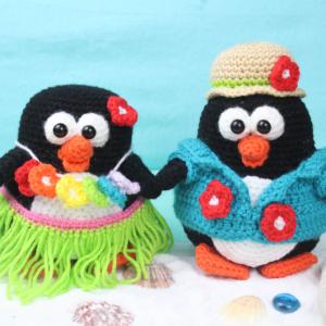 Free Amigurumi Crochet Pattern Tropical Penguins