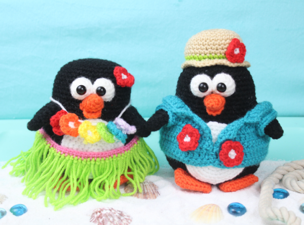 Free Amigurumi Crochet Pattern Tropical Penguins