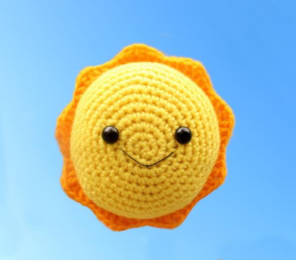 Free sun amigurumi crochet pattern summer