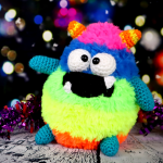 Fuzzy Monster Amigurumi – Free Crochet Pattern