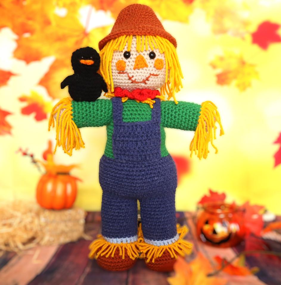 free scarecrow amigurumi crochet pattern halloween