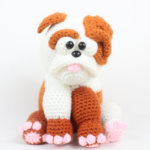 Cartoon Bulldog Amigurumi – Free Crochet Pattern