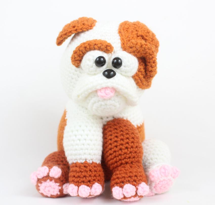 Free bulldog amigurumi crochet pattern
