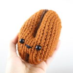 Coffee Bean Amigurumi – Free Crochet Pattern