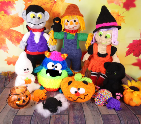 Halloween Amigurumi Crochet Pattern Bundle
