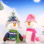 Snow Much Fun! Big Snowman & Girl Amigurumi – Free Crochet Pattern