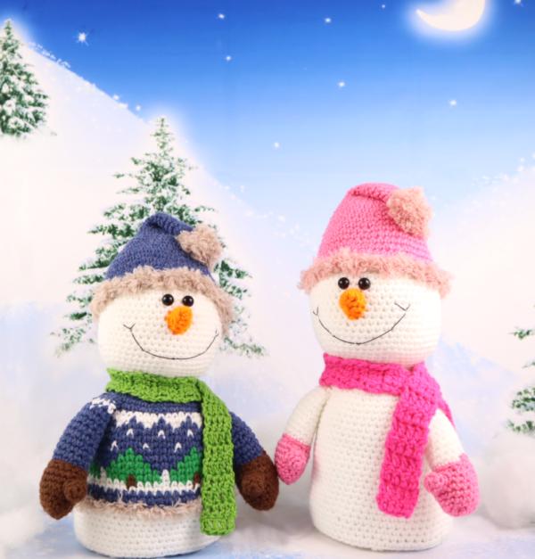 Free snowman amigurumi crochet pattern christmas