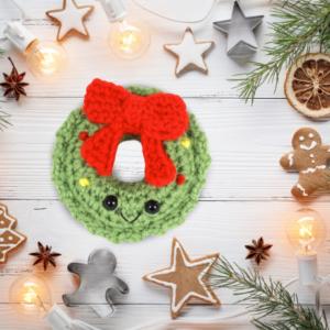 Free wreath amigurumi crochet pattern