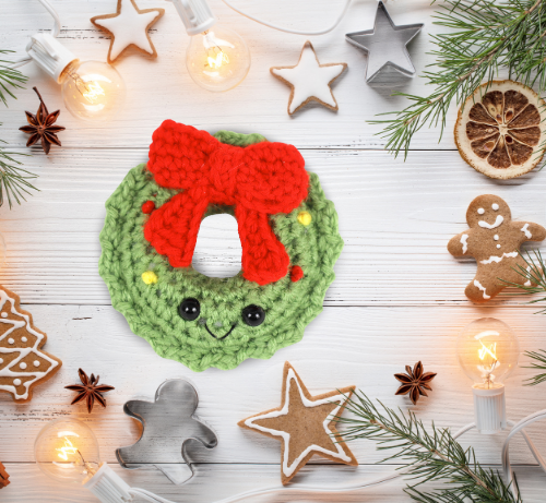 Free wreath amigurumi crochet pattern