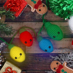 Free crochet pattern amigurumi christmas lights