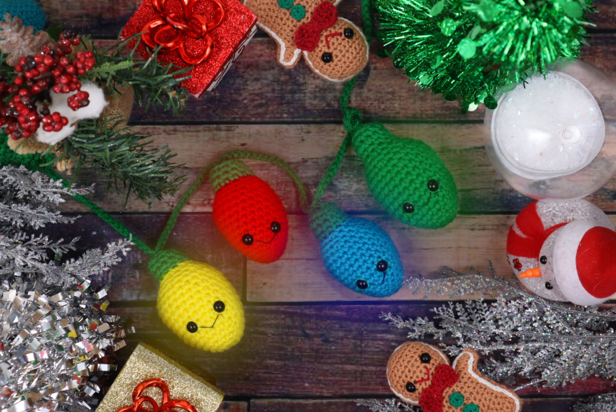 Free crochet pattern amigurumi christmas lights