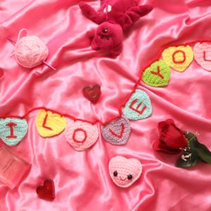 7 Minute Heart Amigurumi and Garland Free Crochet Pattern