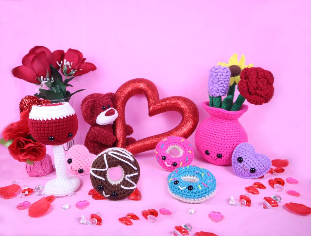 Free Valentine's Day Amigurumi Crochet Pattern Bundle
