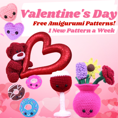 Free Valentine's Day Amigurumi Crochet Pattern Bundle