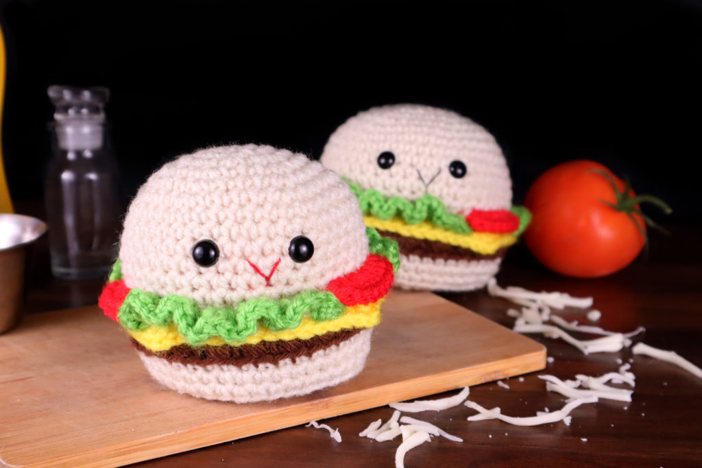Free Hamburger Amigurumi Crochet Pattern No Sew