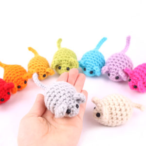 Free mice mouse amigurumi crochet pattern scrap yarn