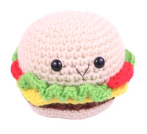 Free amigurumi hamburger crochet pattern