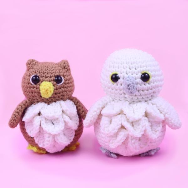 Free owl and snow owl amigurumi crochet pattern