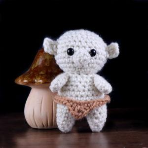 free tiny troll amigurumi crochet pattern