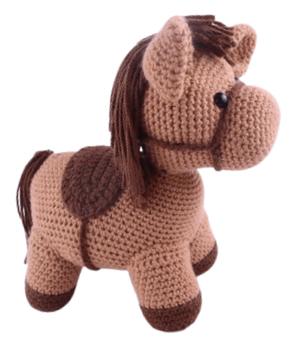 Free horse amigurumi crochet pattern