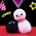Bowling Pin & Ball Amigurumi – Free Crochet Pattern