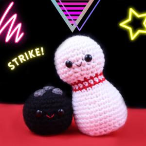 Free bowling crochet amigurumi pattern ball pin